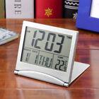 New Digital LCD Weather Station Folding Desk Temperature Travel Alarm Clock