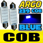 COB 3W SUPER BRIGHT BLUE 239 INTERIOR FOOTWELL LIGHT BULBS MIRROR SUN VISOR