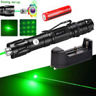 Military 50Miles Green 532nm Laser Pointer Pen Visible Beam Lazer +18650&Charger