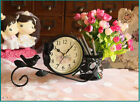 A14 Originality Iron Art Mute Living Room Bedroom Office Desk Clock Ornament O