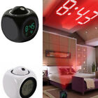 Digital Alarm Clock Multifunction With Voice LED Projection Temperature LD
