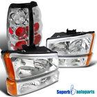 2003-2006 Silverado Headlights+Bumper Signal Lights+Tail Brake Lamps Chrome