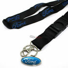 Ford Oval Logo Black Lanyard and Key Chain Ring Holder for around neck