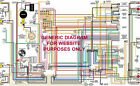 """1960 60 Lincoln & Continental Full Color Laminated Wiring Diagram 11"""" X 17"""""""