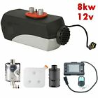 8KW 12V Silencer +LCD Switch 10L Tank  Air diesel Heater For Car Truck Bus 8000W