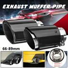 "2.6""/3.5"" 160mm L Universal Carbon Fiber Car Exhaust Pipe Tail Muffler End"