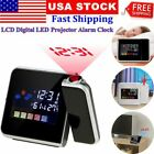 Projection Digital Alarm Clock LCD Humidity Temperature Display w/ LED Backlight