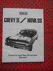 1968 Chevy II / Nova SS Features and Specifications Manual