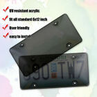 2XGrey&Transparent Tinted- Smoke License Plate Tag Frame Cover Shield Car Truck
