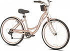 Beach Cruiser Bike Women?s 26? Rose Gold Hybrid Low Step-through Bicycle