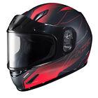 HJC 243-713 CL-Y Taze Snow Helmet Md Semi Flat Red