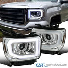 For 14-18 Sierra 1500 19 2500HD 3500HD Pickup LED DRL+Signal Projector Headlamps