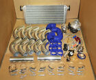 BMW UNIVERSAL 7PSI UPGRADE T3/T4 TURBO TURBOCHARGER KIT AR .63 STAGE 3 INCH BLUE