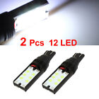 2 Pcs T10 Wedge 12 SMD LED Bulb White Car Tail Light Internal
