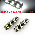 Pair T10 White 2835 SMD 24 LED Car Dashboard Signal Light Lamp 12V Internal