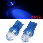 2 Pcs T10 Wedge Blue LED Lamp Dashboard Marker Side Lights W5W 194 Internal