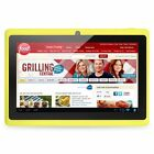 """Yellow 8GB 7"""" Android 4.4 Tablet PC for Kids Children A33 Quad Core Kid MID WiFi"""