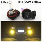 H11 55W Hyper Golden Yellow Eye Halogen Xenon Gas HID Fog Light Daylight Bulbs