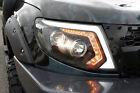 FRONT BLACK PROJECTOR HEADLIGHT LAMP CCFL LED LENS FORD RANGER T6 2012 13 14 15