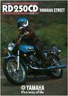 YAMAHA Brochure RD250 1976 RD250C & 1977 RD250D Sales Catalog Catalogue REPRO
