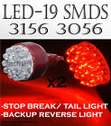 ICBEAMER 1 PAIR 19x SUPER RED LED STOP/TAIL-BRAKE LAMP LIGHT BULBS Fas NM5292