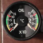 Insco Dual Oil Temp Indicator 9031-1001 with Overhaul Yellow Tag