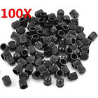 100PCS Plastic Black Auto Car Bike Motorcycle Truck wheel Tire Valve Stem Caps