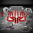 T04 .63AR 400HP+12PC TURBO CHARGER+MANIFOLD+INTERCOOLER KIT FOR 200SX/S13 CA18DE