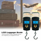 2 Portable 50kg, 110lbs Digital Hanging Luggage Weight Electronic Hook Scale