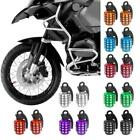 2pcs Anodized Grenade Shape Tire Tyre Valve Dust Cap for Motorcycle Black