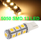 2W T10 Warm White 5050 SMD 13 LED Car Light Lamp Bulb 194 168 W5W