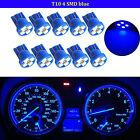 10pcs Blue T10 Wedge 4-SMD LED Dashboard Light W5W 194 2825 Gauge Cluster Bulbs