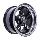 US Mags U10715706537 Mustang Wheel 15x7 Black w/ Diamond 65-73