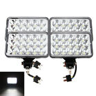 "4X6"" LED Headlights CREE Light Bulbs Crystal Clear Sealed Beam Headlamp Set 4"