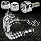 J2 FOR 90-91 INTEGRA EXHAUST MANIFOLD RACING HEADER+SILVER WASHER CUP BOLTS