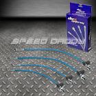FRONT+REAR STAINLESS STEEL HOSE JDM BRAKE LINE 86-89 ACURA INTEGRA DA1/DA3 BLUE