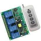 AC220V 4CH Relay 500m RF Wireless Remote Control Switch Receiver Transmitter
