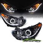 For 2012-2014 Hyundai Accent Sedan/Hatchback LED Halo Projector Black Headlights