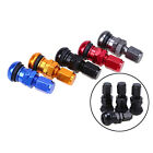 4 x Bolt-in Car Aluminum Tubeless Wheel Tire Valve Stem With Dust Cap New