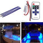 Car Boat Wireless Remote Control Motorcycle  LED Light Strip Kit 30CM Blue 12V