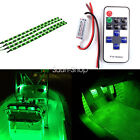 Boat And car Wireless Remote Control Motorcycle Green LED Light Strip Kit 30CM