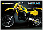 SUZUKI Poster RM465 1982 VMX Suitable to Frame