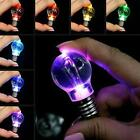 Mini Cute Key Chain Touch 7 Color Changing LED Light Lamp Bulb Keychain Toy Gift