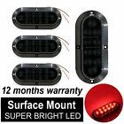 "4X 6"" 10 LED Surface Mount Oval Smoked Len Red Stop Brake Marker Boat Tail Light"