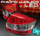 02-05 Audi A4 S4 4Dr Sedan Philips-LED Perform Red Clear taillights Left+Right