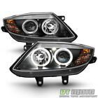 Black 03-08 Bmw Z4 Dual Led Halo Projector Headlights Lights Lamps Left+Right