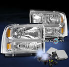 05 06 07 FORD F250 F350 F450 F550 SUPERDUTY HEADLIGHTS LAMPS CHROME W/8K HID KIT