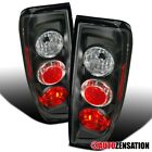 For 05-14 Nissan Frontier 09-12 Suzuki Equator Black Tail Lights Rear Brake Lamp