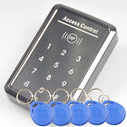 Stanalone RFID Card Reader Touch Keypad Door Access Entry Control 5 Key Fob WG26