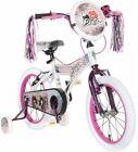 16 White/Purple Bike Steel Frame Girls Kids Toy Ride Training Wheels Rear Brakes